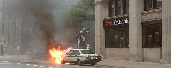 Volvo on Fire in Michigan | My Black Brick